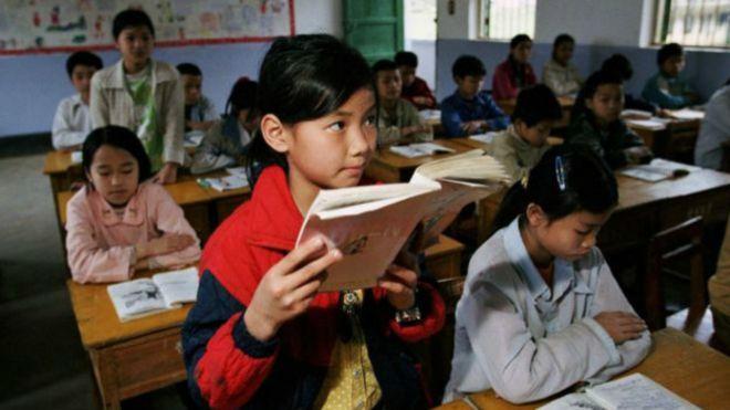 Niña escolar de Shanghái