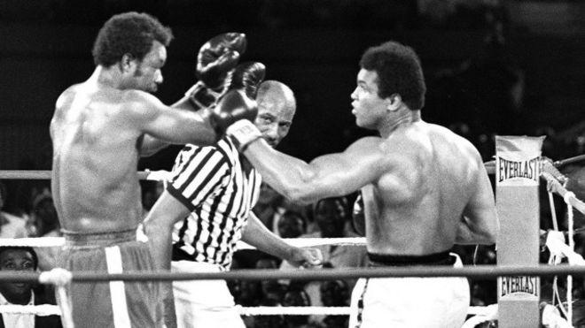 Muhammad Ali và George Foreman
