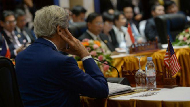 克里促东盟就海牙南海仲裁采取一致立场