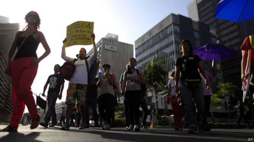 Protesta en Puerto Rico