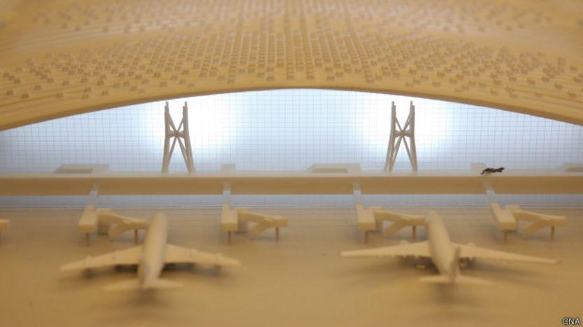 桃園機場第三航站模型