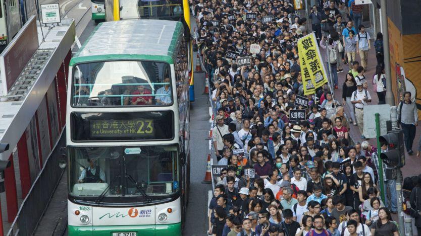 香港民主派团体游行(6/11/2016)
