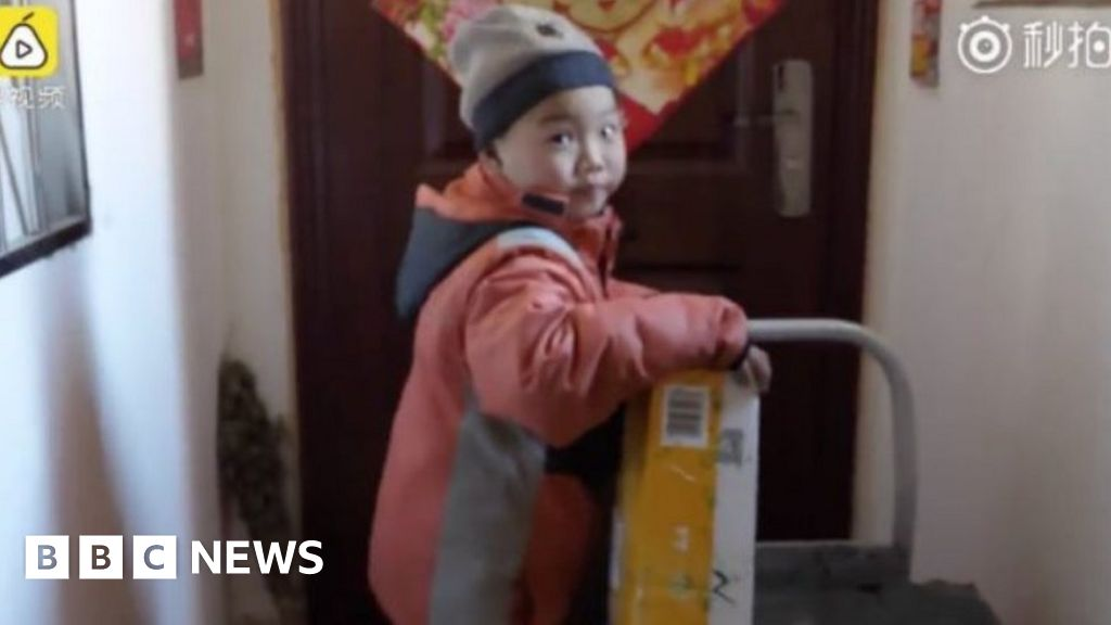 Outrage over seven-year-old delivery boy