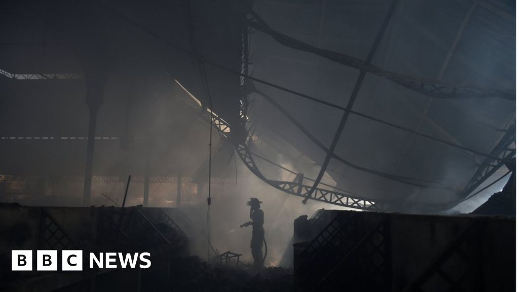 Haiti's historic Port-au-Prince Iron Market ravaged by fire