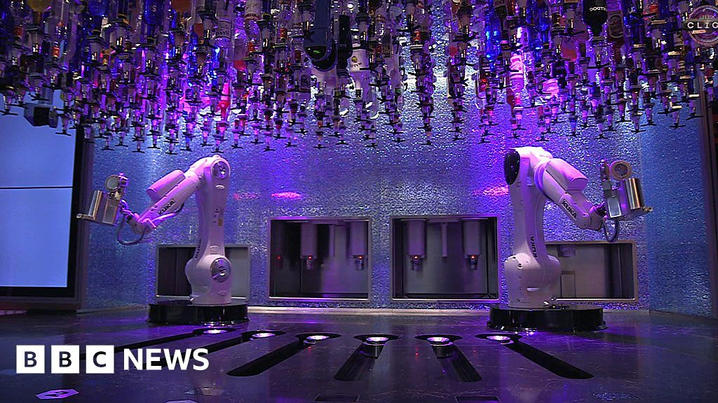 The bar where robots make cocktails