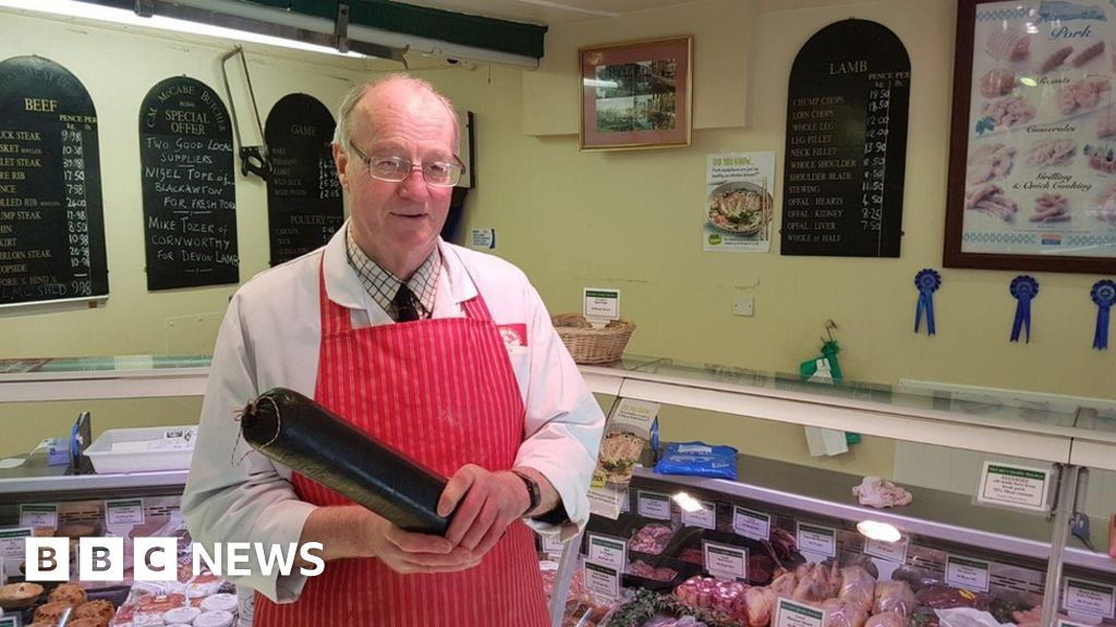 Trapped butcher saved by black pudding