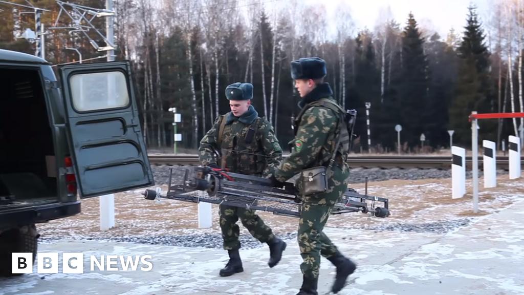 Belarusian border guards catch 'trolley drone'
