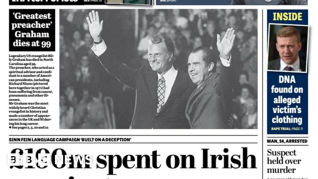 NI newspaper review: 'Outcry' over IRA office for MP