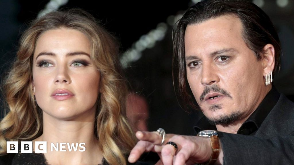 johnny depp and amber heard in marriage split bbc news