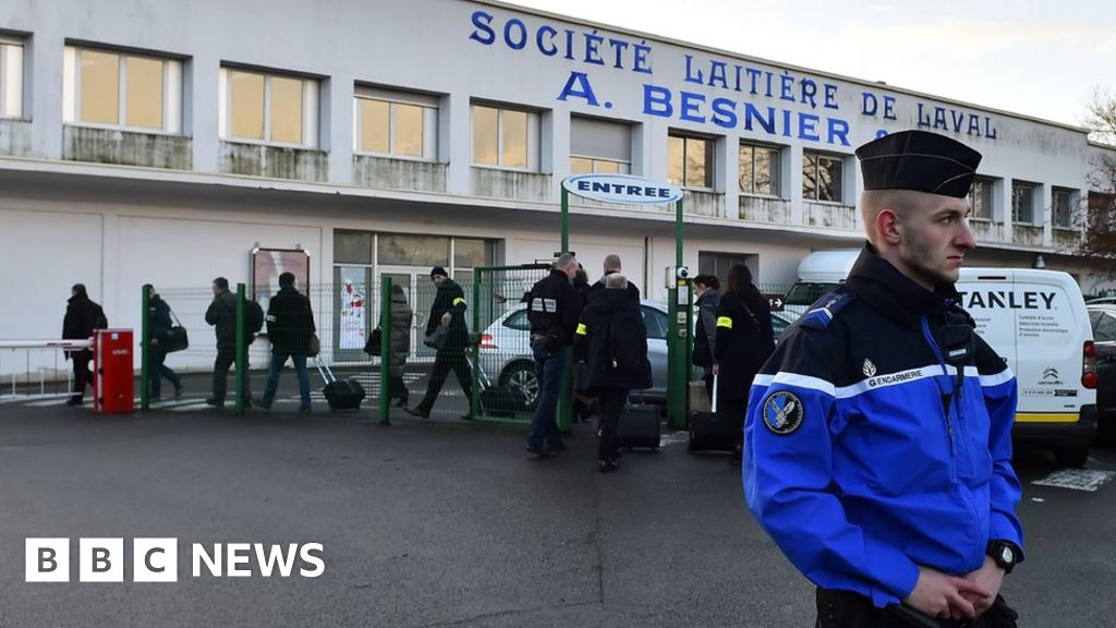 French raids over baby milk scare