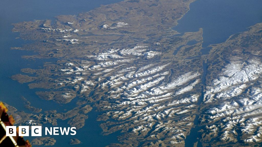 'Cloudless' Highlands captured from space