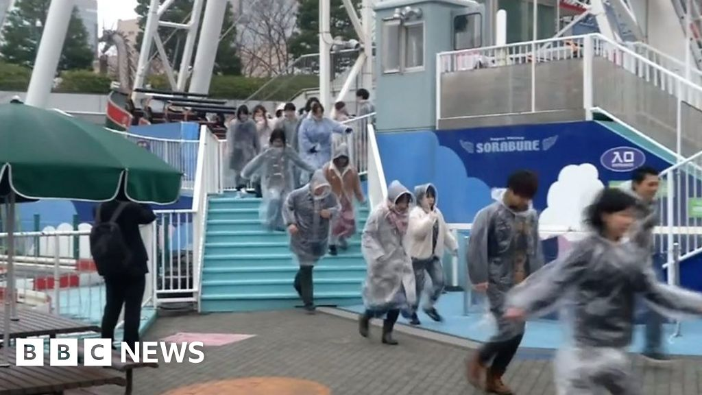 Tokyo amusement park evacuated in missile drill