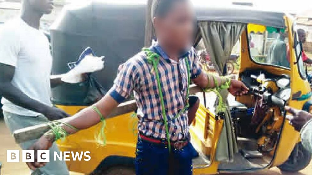 Nigerian students 'tied to cross and whipped' for being late