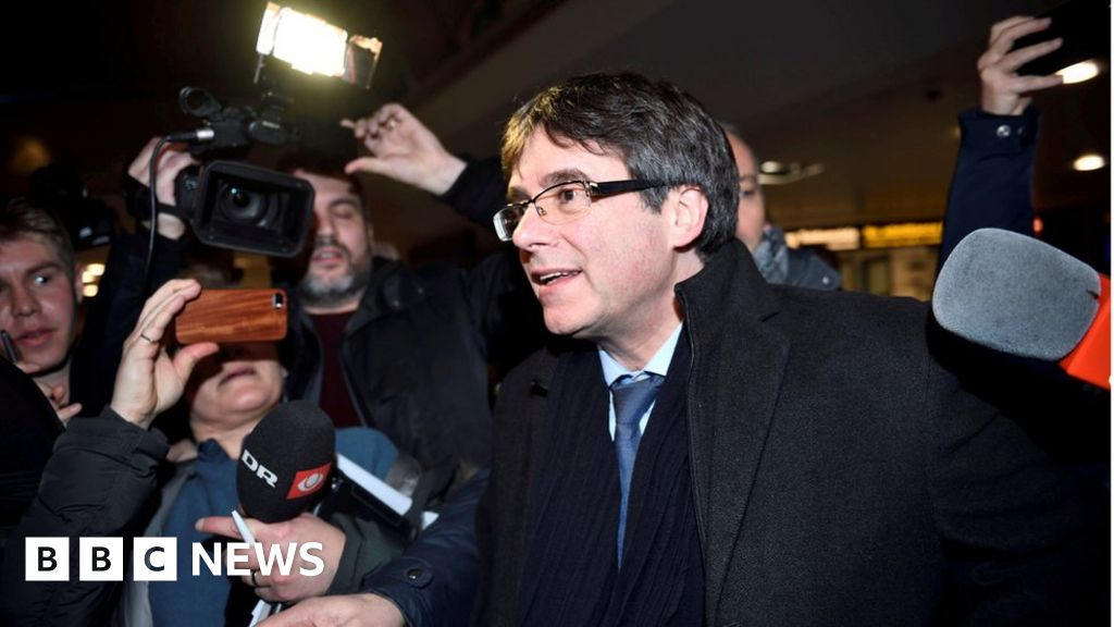 Spain renews arrest bid as Catalonia's Puigdemont travels to Denmark