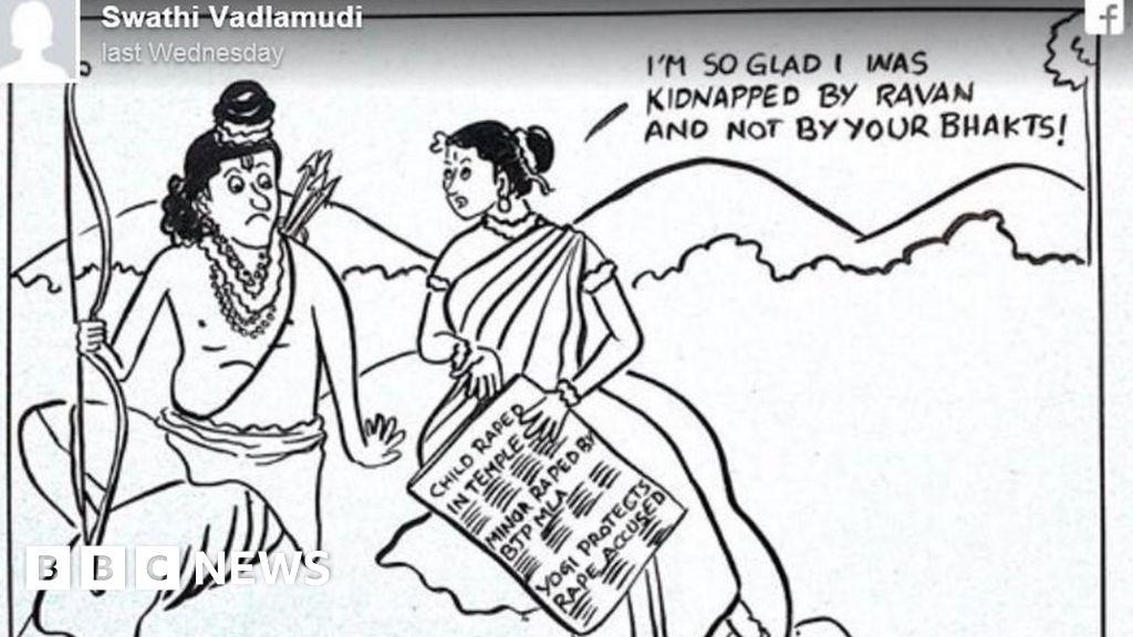 India Journalist Threatened Over Anti-Rape Cartoon - Bbc News-5643