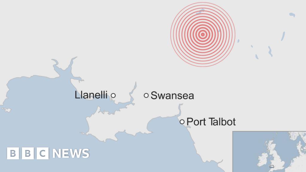 Swansea earthquake tremor was 'frightening'