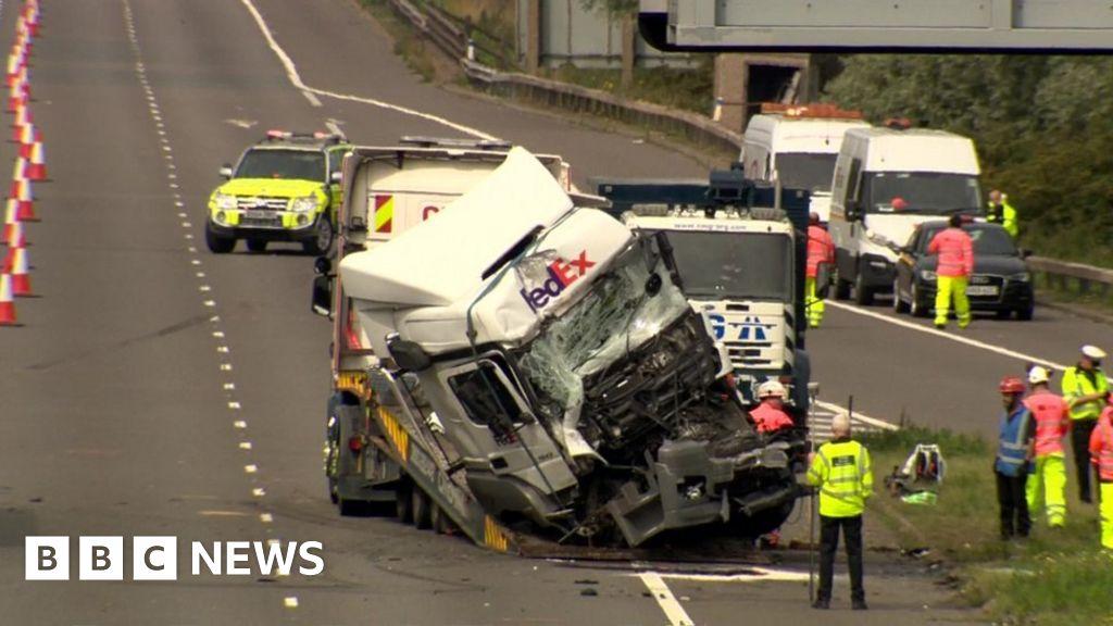 M1 crash deaths: Lorry driver 'twice drink-drive limit'
