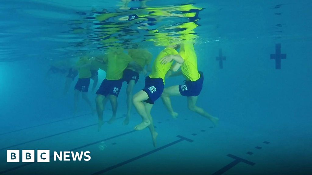 Coral Reef Bracknell Lifeguards Trained For Rebuilt Pool Bbc News