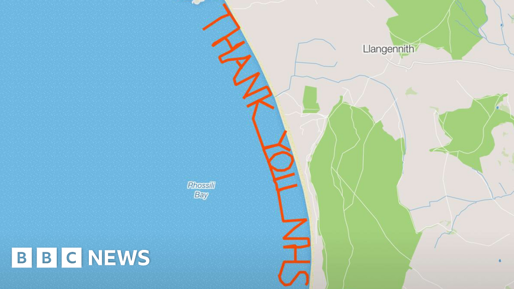 Cardiff runner maps out 'thank you' for donated organ - BBC News
