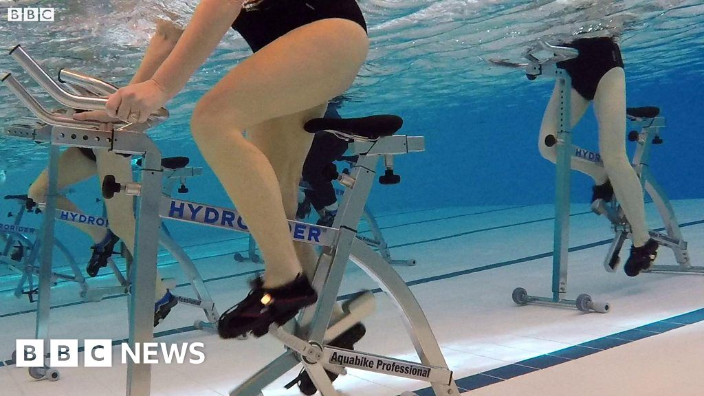 Aqua Cycle Launched At Swimming Pools In County Durham Bbc News