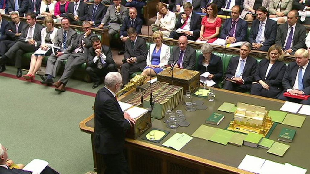 PMQs: Jeremy Corbyn says government 'floundering' on pay cap