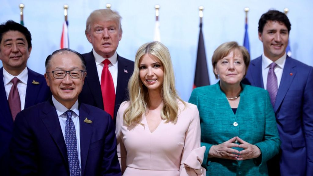 Ivanka takes father's seat at summit