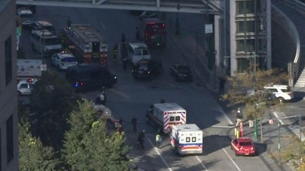 New York shooting incident: Suspect held