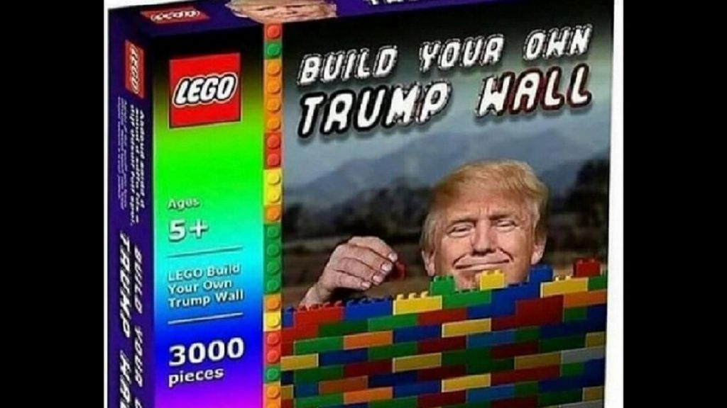 Lego Build Your Own Trump Wall