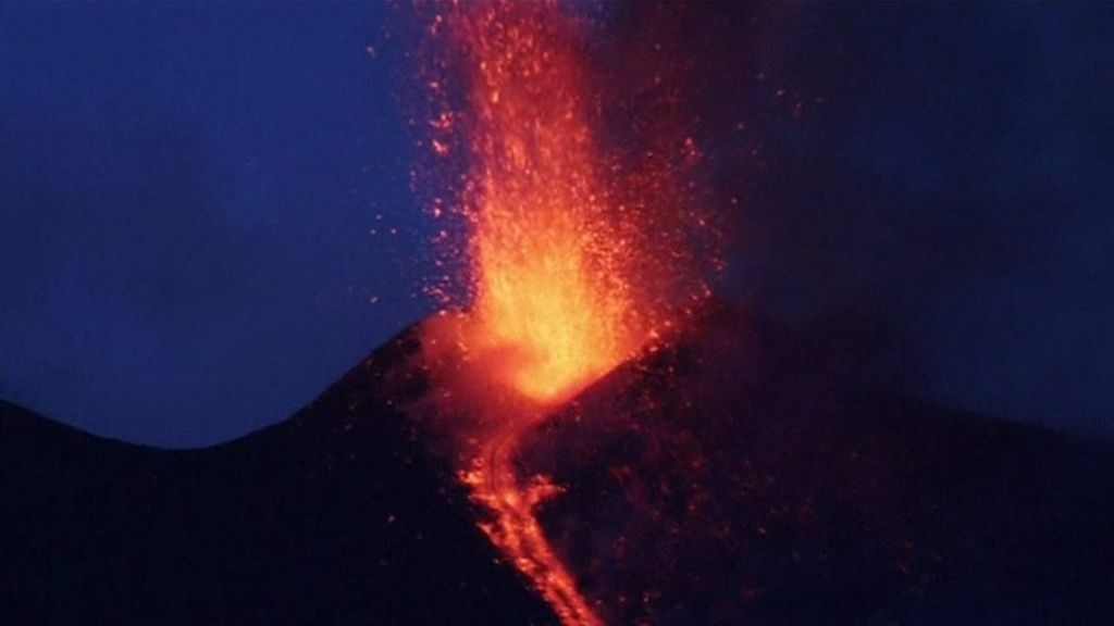 Mount Etna erupts for first time this year - BBC News
