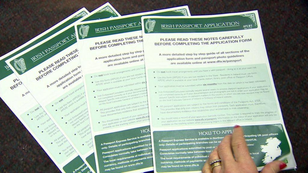 Aps2e Irish Passport Application Form Choice Image Free Form