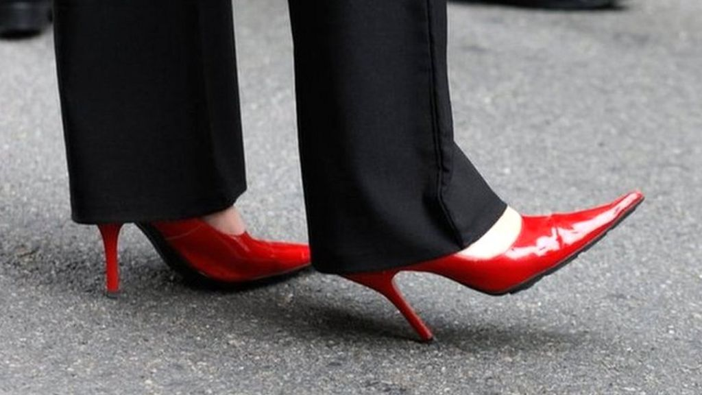 is it legal to force women to wear high heels at work bbc news. Black Bedroom Furniture Sets. Home Design Ideas