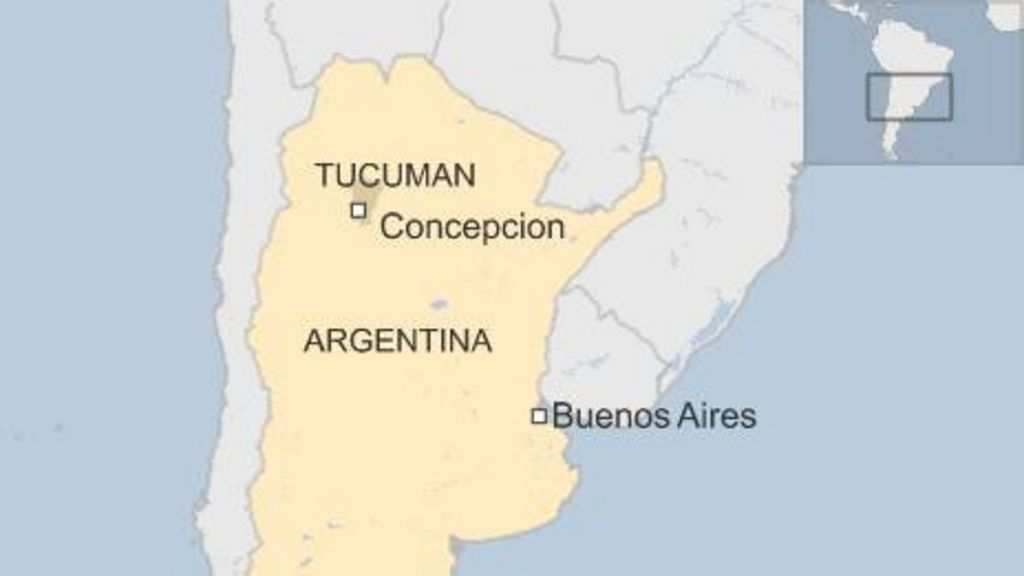 Argentina Mayor Trapped In Town Hall By Protesters BBC News - Argentina map tucuman