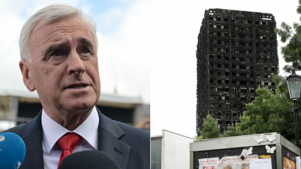 John McDonnell: Grenfell victims 'murdered by political decisions'