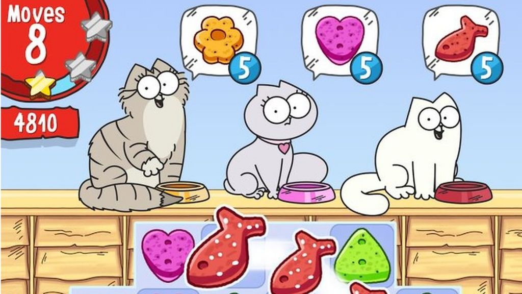 Simon's Cat game app showed adult bite advert