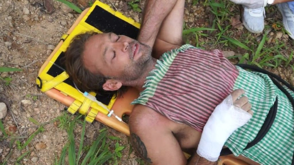 Actor Paul Nicholls rescued from Thailand waterfall