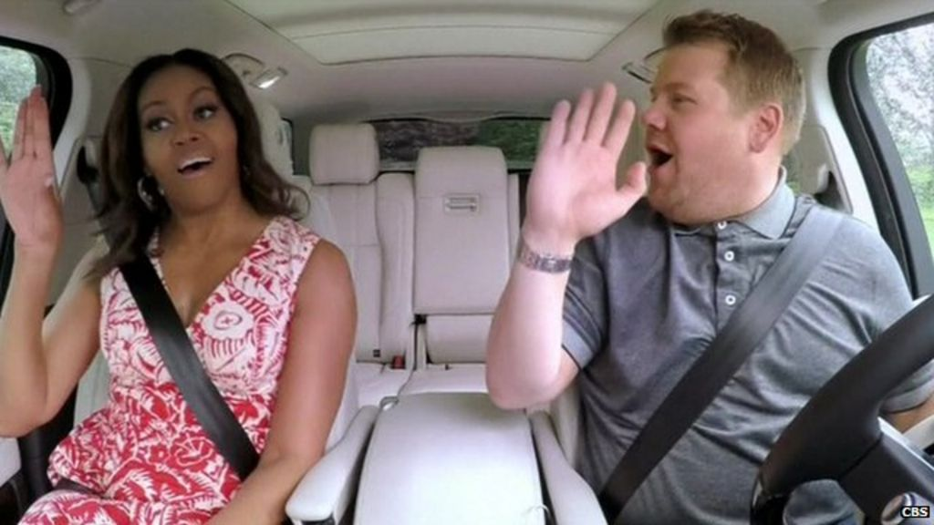 Michelle Obama joins James Corden for 'Carpool Karaoke'
