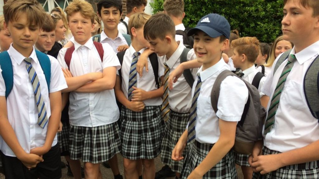Boys in skirts win the right to wear shorts - next year