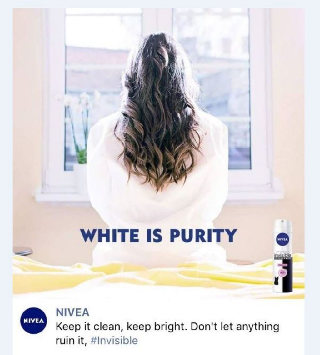 Nivea removes 'white is purity' advert