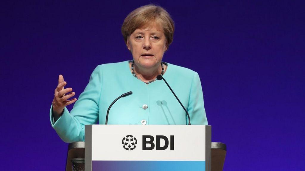 Merkel reaches out to France's Macron on eurozone budget