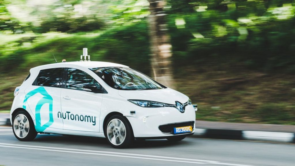 Self Driving Taxi Trial Kicks Off In Singapore Bbc News