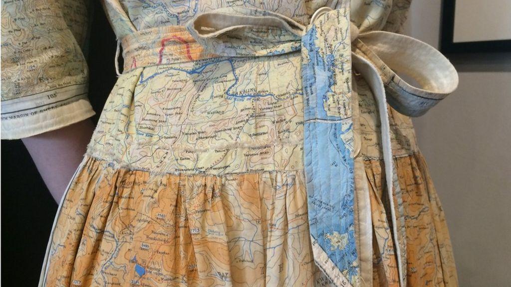 Ww silk escape map dress sold in harrogate bbc news