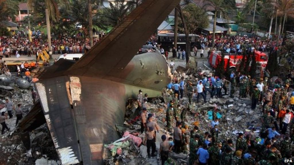 Indonesia transport plane crash: More than 100 feared dead  BBC News