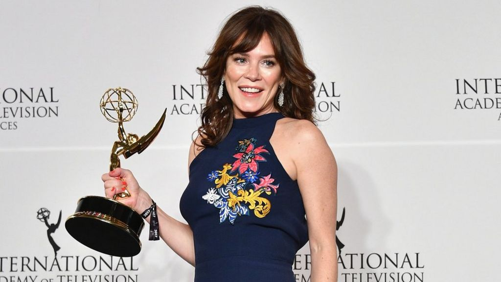 Anna Friel celebrates International Emmy Award win for Marcella