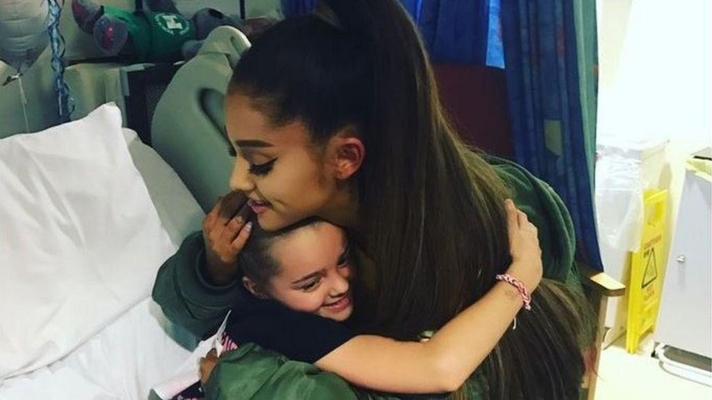 Manchester attack: Ariana Grande visits injured fans