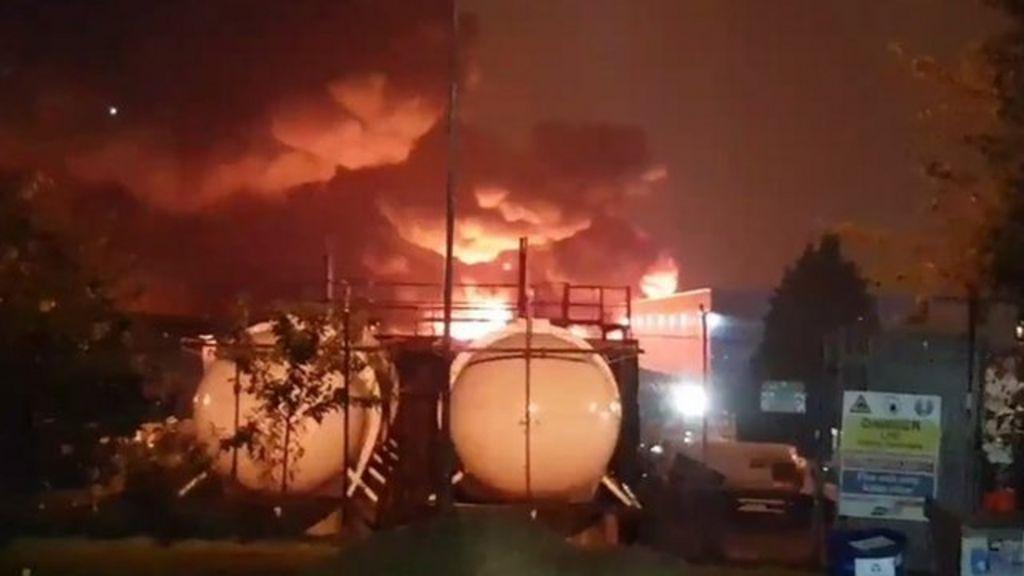 Allied Glass Leeds Fire