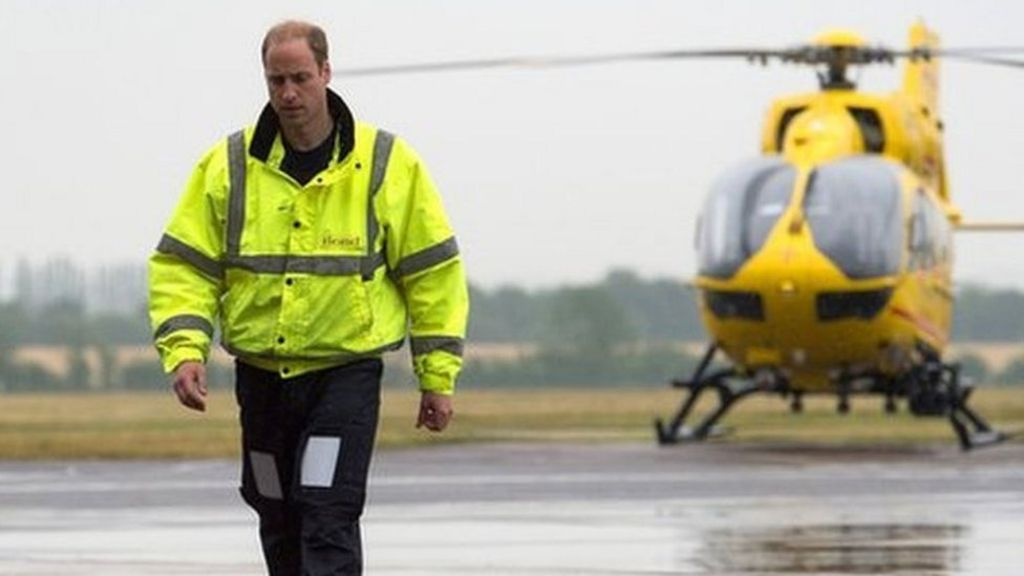 Prince William aids woman hit by police van on his final shift