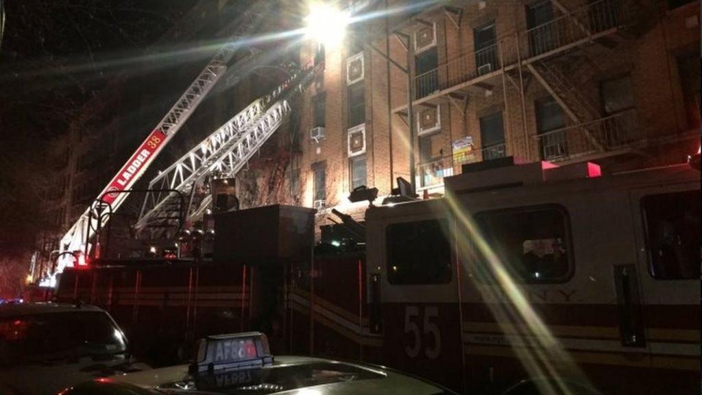 Bronx fire: Six dead in New York apartment block blaze