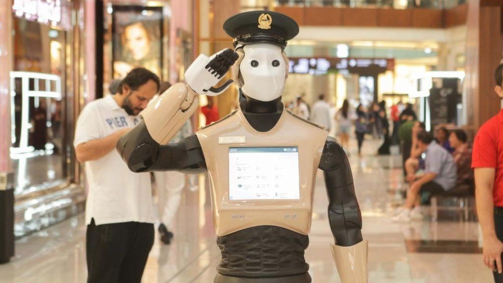 Image result for Dubai Robot police