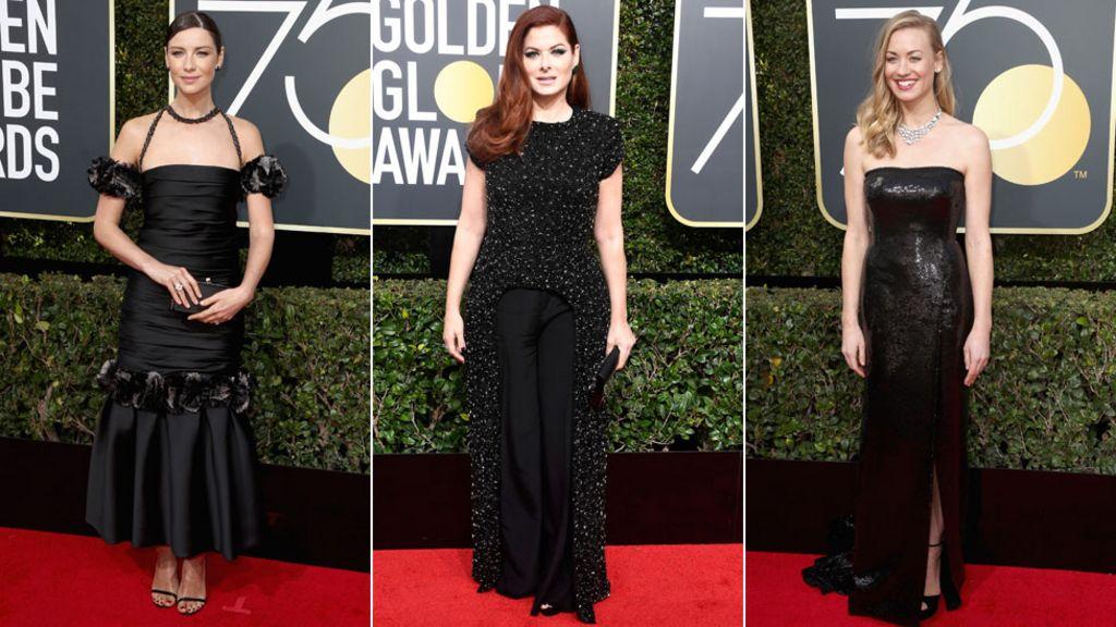 Golden Globes 2018: Stars wearing black on the red carpet