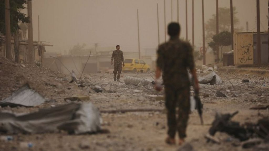Syrian forces breach Raqqa's Old Wall in IS fight – US